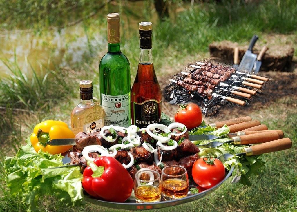 Картинка выпивка и еда